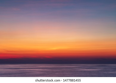 Vibrant and long exposure sunset background