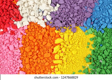 vibrant multicolor background composed of crushed watercolor paint
