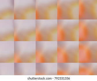 Vibrant multi-colors squares of changing colors, orange, silver lavender.