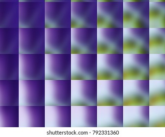 Vibrant multi-colors squares of changing colors, purple, green jewel tones.