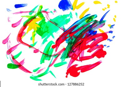 vibrant paint splashes and strokes