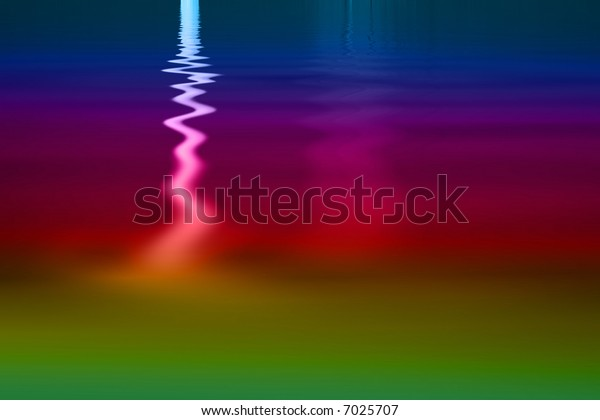 Vibrant rainbow colored metallic paint pool abstract background