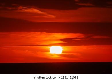 Vibrant Sunrise in Galveston, TX.