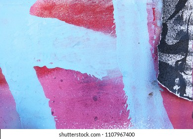 Vibrant urban abstract creative paint texture pattern, use for mixed media art and digital design