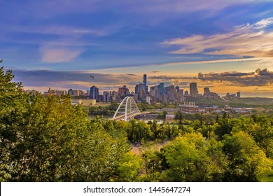 A Vibrant View Of The Edmonton Skyline