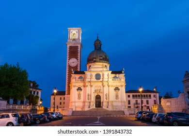 VICENZA, ITALY 2019 APRIL 27:The Church of St. Mary of Mount Berico is a Roman Catholic and minor basilica in Vicenza, northern Italy. The church is a Marian shrine, and stands at the top of a hill