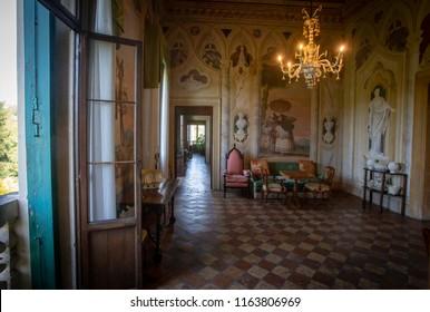 Vicenza (Italy) - July 18th 2018: Interiors of  Villa Valmarana, a Palladian villa ouside Vicenza