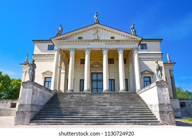 Vicenza, Italy - May 9, 2011: The  atrium of Villa La Rotonda by the architect Andrea Palladio.