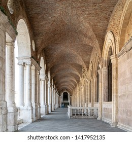 Vicenza, Italy - September 11 2018: A view of the interior of the upper loggia of the Basilica Palladiana,  Vicenza, Italy