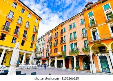 Vicenza, Italy - September 5, 2016 : View of Piazza dei Signori in Vicenza, Italy on September 5, 2016. Vicenza is located at the northeast of Italy, where is also listed as a World Heritage Site.