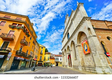 Vicenza, Italy - September 5, 2016 : View of the historic area in Vicenza, Italy on September 5, 2016. Vicenza is located at the northeast of Italy, where is also listed as a World Heritage Site.