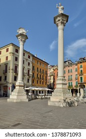 Vicenza, Italy. View of Piazza dei Signori in Vicenza, Italy on September 5, 2016. Vicenza is located at the northeast of Italy, where is also listed as a World Heritage Site.