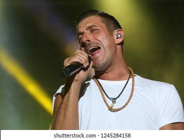 Vicenza, VI, Italia - September 5, 2017: Live Concert of GABBANI FRANCESCO a famous Italian singer-songwriter and musician