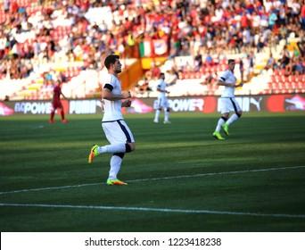 Vicenza, VI, Italy - September 2, 2016:  Cerri Alberto during football match between the Italian national team and Serbia U21 at Menti Stadium of Vicenza