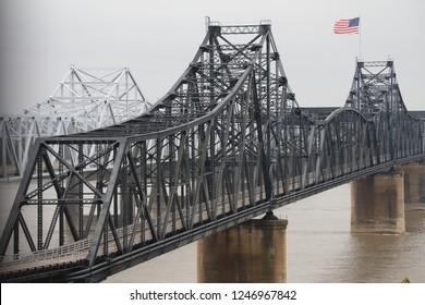Vicksburg Mississippi bridges over the Mississippi River.