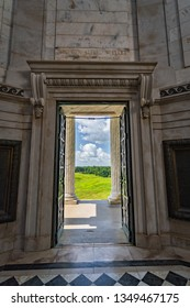 Vicksburg, Mississippi / USA - June 1, 2018: Doorway of the Illinois Memorial of Vicksburg National Military Park