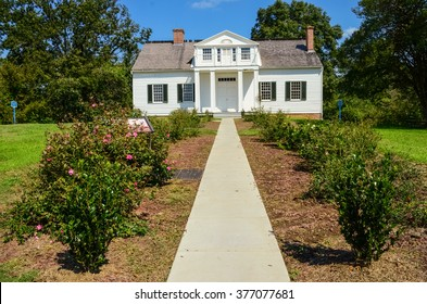 VICKSBURG, MS - OCT 3, 2012: Historic Shirley House is the only remaining Civil War structure in Vicksburg National Military Park in Vicksburg, Mississippi.