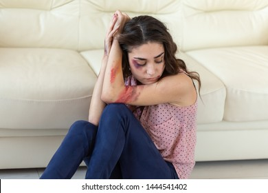 Victim, abuse and domestic violence - Woman crying, suffering domestic violence