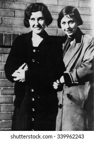Victims of the 1931 Phoenix Trunk Murders. Mrs. Agnes Ann LeRoi (eft) and Miss Hedwig Samuelson. Ca. 1931. Mrs. Winnifred Ruth Judd was convicted of their murders.