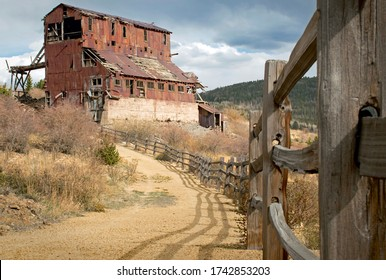 Victor, CO / USA - May 14, 2020: An abandoned gold mine has been transformed into a interpretive trail and historical landmark.