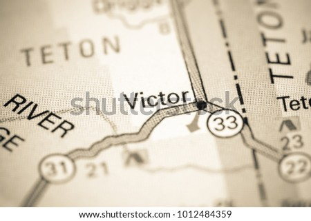 Victor Idaho Usa On Map Stock Photo Edit Now 1012484359 Shutterstock
