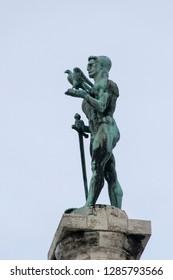 The Victor monument in Kalemegdan fortress Belgrade, Serbia.