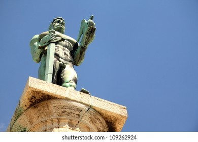 Victor monument on Kalemegdan fortress in Belgrade, Serbia