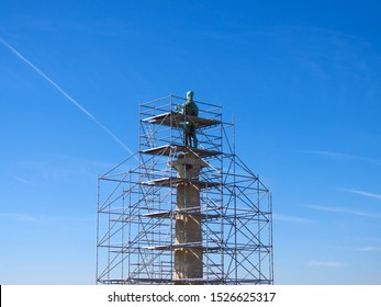 The Victor monument on Kalemegdan fortress in Belgrade, preparing for reconstruction.