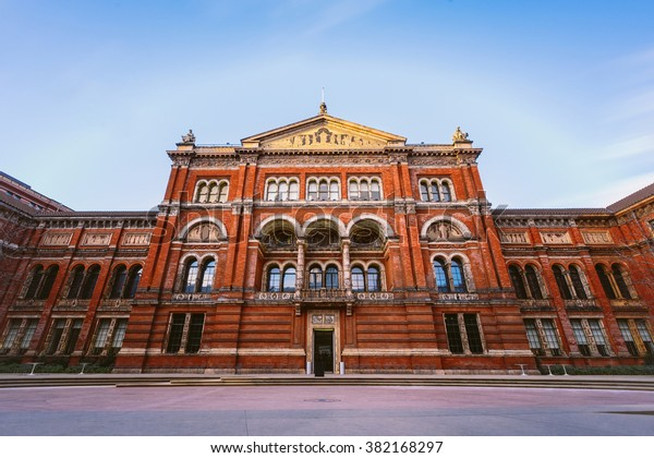 Victoria and Albert museum entrance, London, England