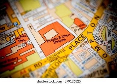 Victoria & Albert Museum. London, UK map.
