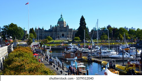 VICTORIA, BC, CANADA, JUNE 23 2015: The British Columbia Parliament Buildings are located in Victoria, British Columbia, Canada and are home to the Legislative Assembly of British Columbia.