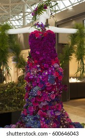 Victoria  B.C. Canada Mar 9 2017: Fleurs de Villes, premiere Floral Mannequin Series the first stop on the event's inaugural cross-Canada tour. First of its kind to combine fashion and flowers.
