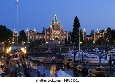 VICTORIA BC - JULY 10: Couple accused in BC legislature bombing plot receive one month court adjournment. Photo shows BC legislature building, the target of the plot on July 26, 2013.