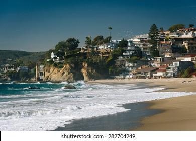 Victoria Beach, in Laguna Beach, California.