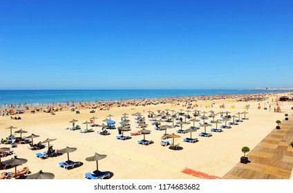 Victoria Beach (Playa de la Victoria), the best urban beach in the city of Cádiz, Andalusia, Spain