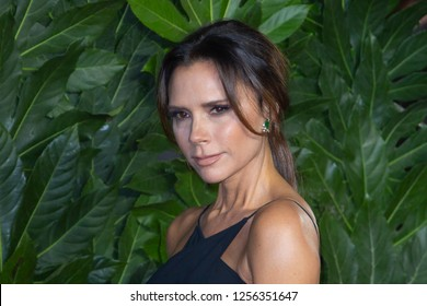 victoria Beckham arrives at The Fashion Awards 2018 at the Royal Albert Hall on December 10, 2018 in London, England.