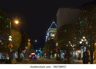 Victoria  British Columbia  Canada  December 2 2017: The city is decorated for Christmas.