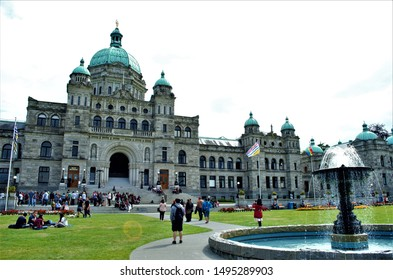 Victoria, British Columbia, Canada on July 06, 2019.  The scenery of this  beautiful city in Vancouver Island is very popular for the newly weds and retirees to settle in and tourists to roam around.