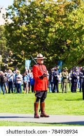 Victoria  British Columbia  Canada Sept 24 2017:The British Columbia Law Enforcement Memorial Service annual march in full uniform.