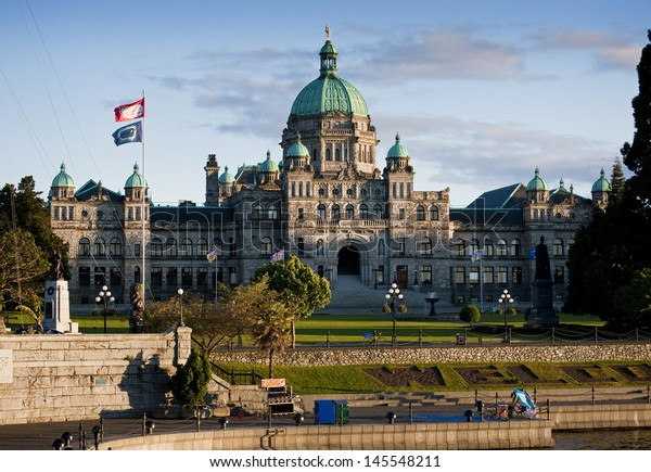 Victoria, British Columbia. The parliament building in the inner harbor of Victoria, British Columbia, the capital of the province.
