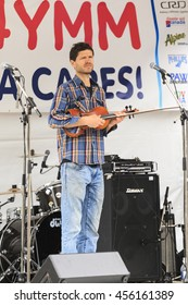 VICTORIA CANADA - JUN 17 2016 :Jon Middleton for YYJ4YYM: A fundraiser concert.  Great line up of music and show for supporting the residents of Fort McMurray Canada .