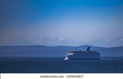 VICTORIA, CANADA - MARCH 31, 2013: BC Ferries going to Horseshoe Bay