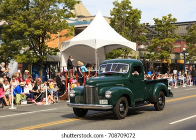 Victoria  Canada May 22,2017: Scouts  Association of Canada  in Victoria Day Parade. This is Victoria's largest parade and attracting well over 100,000 people from Canada and USA..