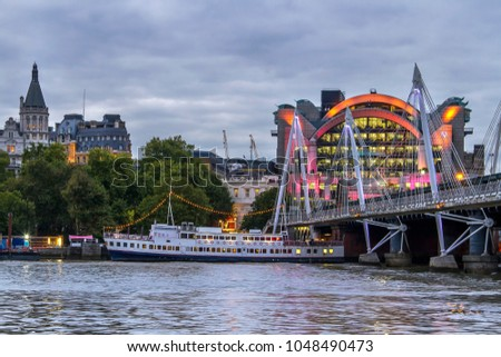 Victoria Embankment London Uk October 9 Stock Photo Edit Now