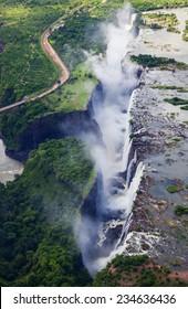 Victoria Falls Aerial Shot