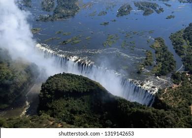 Victoria Falls, Aerial view, Zimbabwe