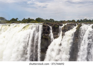 Victoria Falls, boarder of Zambia and Zimbabwe. UNESCO World Heritage