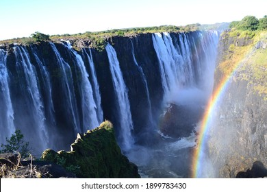 victoria falls double rainbow waterfall
