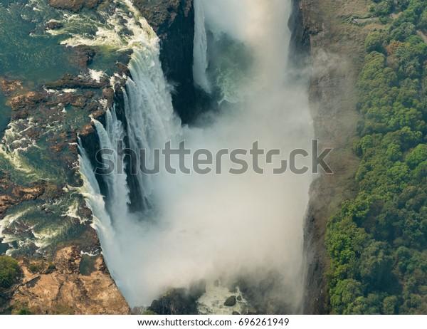 Victoria Falls Drought Near Livingstone Zimbabwe Stock Photo
