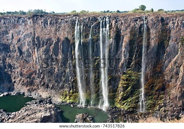 Victoria Falls Drought Seasonzimbabwe Stock Photo Edit Now